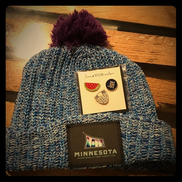e3dc374d5f9 love your melon Other - Love your melon SuperBowl LII hat and pins
